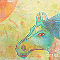 Whimsy Colorful Horse by Sacred  Muse