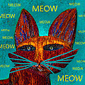 Whiskers Meowing by David Lee Thompson