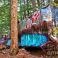 Whistler Train Wreck Box Car Graffiti by Adam Jewell