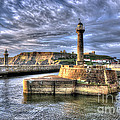 Whitby Harbour On The North Yorkshire Coast by Steve H Clark Photography