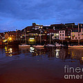 Whitby Lower Harbour At Night by Louise Heusinkveld