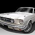 White 1966 Mustang by Gill Billington