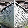 White Boat In Edgartown by Carol Groenen