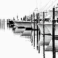 White Boats II - Outer Banks Bw by Dan Carmichael