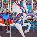 White Carousel Horse by David and Carol Kelly
