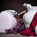 White Ceramic Still Life by Tom Mc Nemar
