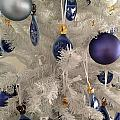 White Christmas Tree by Aimee L Maher ALM GALLERY