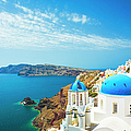 White Church In Oia Town On Santorini by Spooh