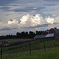 White Clouds Over The Farm by Susan Wyman