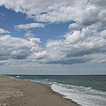 White Clouds Over The Ocean by Christiane Schulze Art And Photography