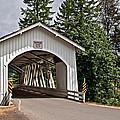 White Covered Bridge Hannah Bridge Art Prints by Valerie Garner
