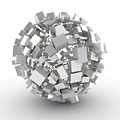 White Cubes Making A Circle Shape by Jesper Klausen / Science Photo Library
