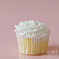 White Cupcake On Pink by Art Block Collections