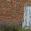White Door In Brick Building by David Arment