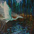 White Egret by Les Lyden