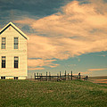 White Farmhouse And Corral by Jill Battaglia