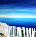 White Fence In Port Reyes National Seashore California by M Bleichner
