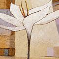 White Flower Painting by Lutz Baar