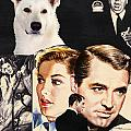 White German Shepherd Art Canvas Print - Suspicion Movie Poster by Sandra Sij