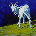 White Goat Painting by Mike Jory