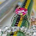 White Gold Ring With Ruby  by Banjong Khanyai