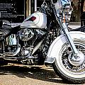 White Harley by Chris Smith