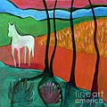 White Horse by Elizabeth Fontaine-Barr