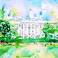 White House - Watercolor Portrait by Fabrizio Cassetta