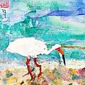 White Ibis by Janet Gunderson