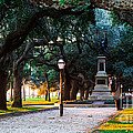 White Point Garden Walkway Charleston Sc by Donnie Whitaker