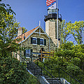 White River Lighthouse In Whitehall Michigan No.057 by Randall Nyhof