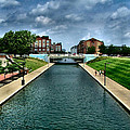 White River Park Canal In Indy by Julie Dant