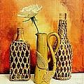 White Rose Still Life by Marsha Heiken