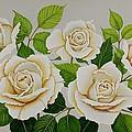 White Roses by Carol Sabo