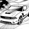 White Roush Mustang by Tommy Anderson