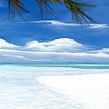 White Sand And Turquoise Sea by Anthony Fishburne