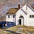 White School 1929 - Lawrence Kansas by Liane Wright