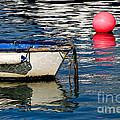 White Skiff - Lyme Regis Harbour by Susie Peek