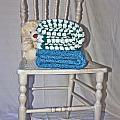 White Teddy And Chair by Izabela Bienko