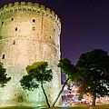 White Tower In Salonica Greece by Sotiris Filippou