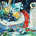 White Vase And Bowl by Siang Hua Wang