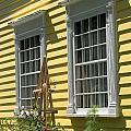 White Windows Yellow Wall by Valerie Kirkwood