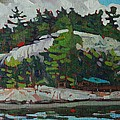 Whitefish River Cottages by Phil Chadwick