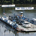 Whites Ferry Crosses The Potomac River Between Poolesville Maryland And Leesburg Virginia. by William Kuta