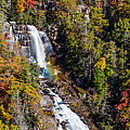Whitewater Falls With Rainbow by John Haldane