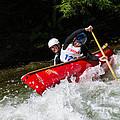 Whitewater Open Canoe Race by Les Palenik