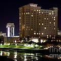 Wichita Hyatt Along The Arkansas River by Bill Cobb