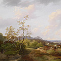 Wide Landscape With Shepherds by Ignaz Raffalt