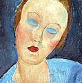 Wife Of The Painter Survage by Amedeo Modigliani