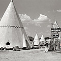 Wigwam Village #2 Coca-cola Sign Marion Post Wolcott  Cave City Kentucky July 1940-2014 by David Lee Guss